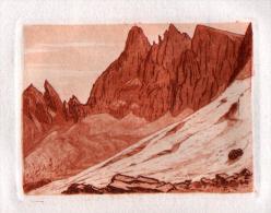 SANGUINE: JJY LREVES ( Vérifier L4orthographe ) -  05 - HAUTES ALPES  - PAYSAGE DE MONTAGNE - Prints