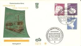 Germany (Berlin) 1975  Industrie Und Technik  FDC  Mi.495,497,500 - FDC: Briefe