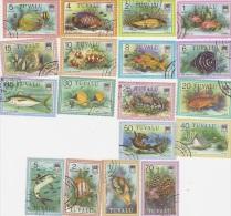 Tuvalu-1979 Fish Definitive Used (18) Stamps - Tuvalu