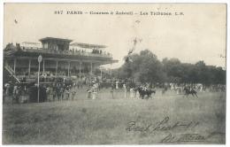 PARIS (Seine) - Courses à Auteuil - Les Tribunes - Belle Animation - N°347 - Autres Monuments, édifices