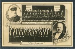 1938 Sweden 'De Svenske' Erik Hogberg Emil Carelius Swedish Navy Ship Orchestra Choir Music Postcard - Sweden