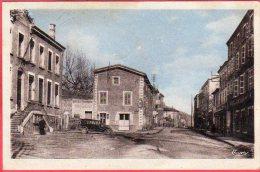 CPA 42 ST PIERRE DE BOEUF Saint Le Groupe Scolaire Et La Route Nationale  Près PELUSSIN - Other Municipalities