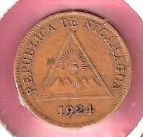 NICARAGUA CENTAVO 1924 - Nicaragua