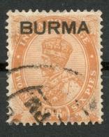 BURMA 1937 2 1/2a USED SG 6 -CAG - Grande-Bretagne (ex-colonies & Protectorats)