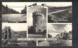 F715 Clifton Suspension Bridge  - Avion Gorge, From Hotweels - Bristol ( England, Uk ) Used 1963 - Small Size - Bristol