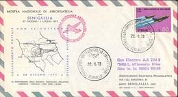 COLLEGAMENTO POSTALE CON ELICOTTERO SENIGALLIA ORBETELLO - 28.06.1973 - MOSTRA NAZIONALE AEROFILATELICA SENIGALLIA 1973 - Elicotteri
