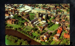 F725 Worcester Cathedral From The Air, Aerienne, Avion  - Used - Small Size - Worcestershire