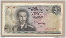 Lussemburgo - Banconota Circolata Da 20 Franchi - 1966 - Lussemburgo