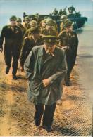 Montgommery Accueille Churchill Sur Le Sol Français Quelques Jours Après Le Débarquement - Manifestations