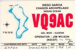 CHAGOS  ISLAND   ,  QSL  , Radioamatori * - Postcards
