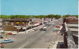 Brookings SD South Dakota, Main Street Scene, Auto, US Mail Truck, Drug Store Sign C1950s/60s Vintage Postcard - Brookings