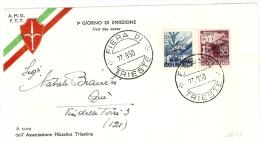 TRIESTE AMG - FTT - BUSTA FILATELICA FDC  AFFRANCATA FIERA DI TRIESTE S. 13 - 7. Trieste