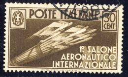 1° Salone Aeronautico Internazionale - 1935 - 30 Cent. Bruno (Sassone 385) - Usati