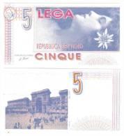 Repubblica Del Nord 5 Lega LOTTO 1039 - [ 2] 1946-… : Républic