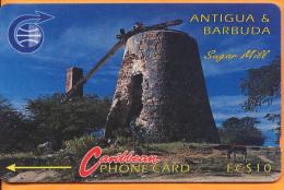 Antigua & Barbuda - ANT-3A, Sugar Mill, 3CATA, 40.500ex, 1991, Used As Scan - Antigua And Barbuda