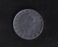 ITALY  -   50 LIRA   1963  / V.F. - 50 Lire