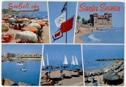 SANTA MARINELLA, SALUTI E VEDUTINE DI SANTA SEVERA, VG 1983, FINESTRELLE    **** - Other Cities