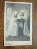 Meisjes Ter COMMUNIE ( CABINET Photo J. SCHEEN Laeken Bruxelles 5 April 1908 - Zie Foto Voor Details ) !! - Personas Identificadas