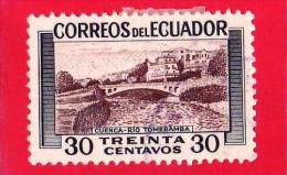 ECUADOR - Usato - 1953 - Fiume Tomebamba - 30 Centavos - Equateur