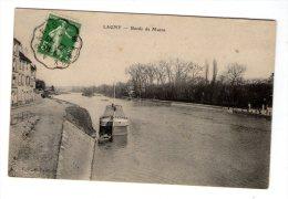 Cp , 77 , LAGNY SUR MARNE , Bords De Marne , Péniche , Bateau , Voyagée - Lagny Sur Marne