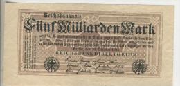 Deutsches Reich -- Reichsbanknote Während Der Inflationszeit V. 1923 5 Milliarden Mark (1810) - [ 3] 1918-1933 : República De Weimar