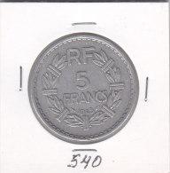 5 FRANCS Alu LAVRILLIER 1945  9 Ouvert - France