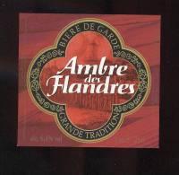 étiquettes De Bière     Ambre Des Flandres  -  Brasserie Jeanne D'Arc à Ronchin (59) - Bier