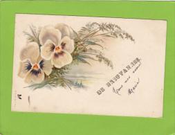 CPA - 52 - BREUVANNES - DE BREUVANNES Tous Mes Voeux - Carte Illustrée De Fleurs (pensées) - Autres Communes