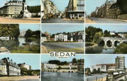 SEDANS - ARDENNES   (08) -  PEU COURANTE CPSM MULTIVUES DE 1963 . - Sedan