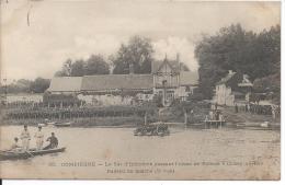 COMPIEGNE. - Le 54e D'Infanterie Passant L'Aisne En Radeau à Choisy-au-Bac Radeau En Marche (2e Vue) - Compiegne