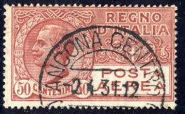 Effigie Di Vittorio Emanuele III - 1926/28 - 50 Cent. Carminio (Sassone A2A) - 1900-44 Vittorio Emanuele III