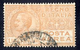 Effigie Di Vittorio Emanuele III - 1926/28 - 1,50 Lire Arancio Bruno (Sassone A6) - 1900-44 Vittorio Emanuele III