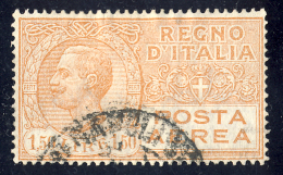 Effigie Di Vittorio Emanuele III - 1926/28 - 1,50 Lire Arancio Bruno (Sassone A6) - 1900-44 Victor Emmanuel III.