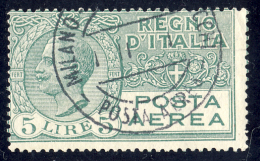 Effigie Di Vittorio Emanuele III - 1926/28 - 5 Lire Verde (Sassone A7) - 1900-44 Victor Emmanuel III.