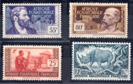 AEF: N°40 I + N°58 + N°59 + N°212a - Tous Neufs ** LUXE - A.E.F. (1936-1958)