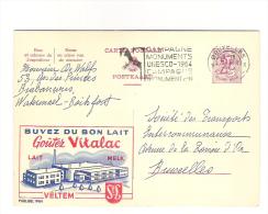 Publibel Obl. N° 1984  ( Buvez Du Bon Lait  VITALAC  - Veltem)  Obl: Bxl: 07/08/1964 - Entiers Postaux
