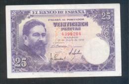 EDIFIL D68.  25 PTAS 22 DE JULIO DE 1954 - 25 Pesetas