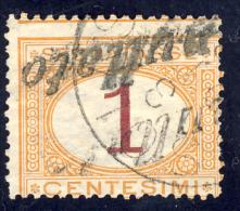 Segnatasse 1° Emissione - 1870/74 - 1 Cent. Ocra E Carminio  (Sassone ST3) - Impuestos