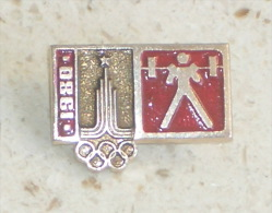 WEIGHTLIFTING - Olympic Games 1980. Moscow Pin * Badge Haltérophilie Olympics Jeux Olympiques Olympia Olimpiadi - Weightlifting