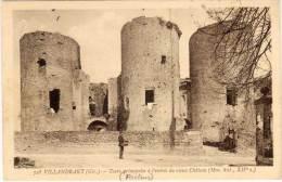 VILLANDRAUT - Tours Principales A L' Entrée Du  Vieux Chateau - Facteur  PP (60732) - France
