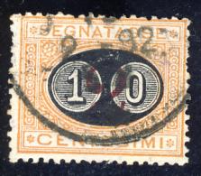 Segnatasse 3° Emissione - 1890/91 - Mascherine -  10 Cent. Su 2 Ocra E Carminio  (Sassone ST17) - Impuestos