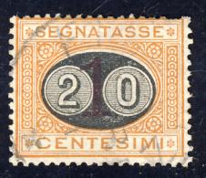 Segnatasse 3° Emissione - 1890/91 - Mascherine -  20 Cent. Su 1 Ocra E Carminio  (Sassone ST18) - Impuestos