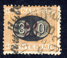 Segnatasse 3° Emissione - 1890/91 - Mascherine -  30 Cent. Su 2 Ocra E Carminio  (Sassone ST19) - Postage Due