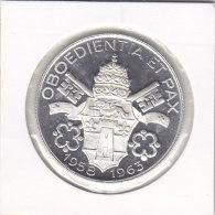 Médaille OBOEDIENTIA ET PAX - 1958 1963 -IOANNES XXIII - PONTIFEX-MAXIMVS - Religion & Esotérisme