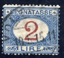 Segnatasse Emissione Complementare- 1903 - 2 Lire Azzurro E Carminio  (Sassone ST29) - 1900-44 Victor Emmanuel III