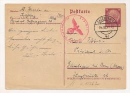 ENTIER POSTAL 1941 DE SLAZBURG A BERN SUISSE / CENSURE ROUGE AIGLE NAZI / 245 /294 / CP  8065 - Alemania
