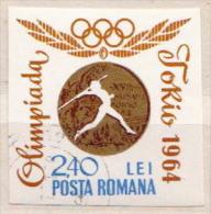 Romania Used Imperforated Stamps - Estate 1964: Tokio