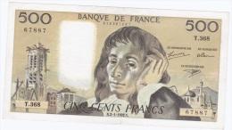 Billet 500 F - PASCAL > Série  T.368 - 1992 - 1962-1997 ''Francs''