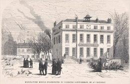 75. PARIS. Manufacture Modèle D'Harmoniums Du Faubourg St-Germain, De A. Rousseau. 1866 - Vieux Papiers