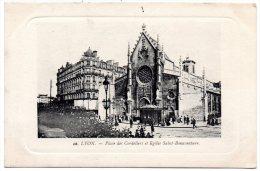 CP, 69, LYON,  Place Des Cordeliers Et Eglise Saint-Bonaventure, Vierge - Lyon